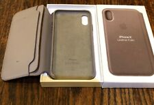 OEM - Apple Leather Folio Case for Apple iPhone X & Xs - Taupe