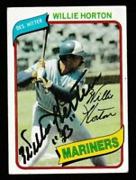 1980 Topps Willie Horton Autographed Card - Seattle Mariners TTM - #532