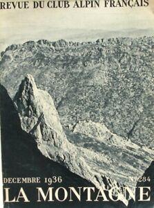 La Montagne n°284 - Décembre 1936 - Le Djurdjura - L'Azou-ou-Gougane - Thaltatt