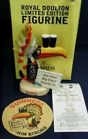 Royal Doulton Guinness BIG CHIEF MCL3 box certificate & bonus coaster