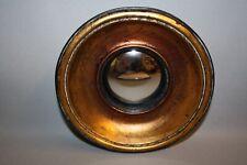 Glace / Miroir dit «oeil de sorcière» style Napoléon III Noir/cuiv Diam 15,5 cm