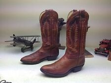 BOULET MADE IN CANADA CUSTOM VINTAGE DISTRESSED WESTERN COWBOY BOOTS 8 D/E