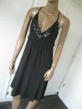 Nicowa Traum-Kleid   Gr. 34/36 schwarz Pailletten Made in Italy