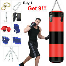 Heavy Boxing Punching Bag Training Gloves Speed Set Kicking MMA Workout Empty