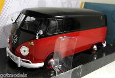 Motormax 1/24 Scale Volkswagen Type 2 T1 Van Splitty Red Black Diecast model car