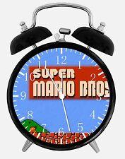 """Old fashioned Super Mario Bros Alarm Desk Clock 3.75"""" Home or Office Decor E117"""
