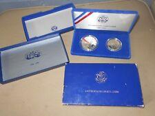 US Liberty Coin Set 1986 S Silver Ellis Island Dollar & Half Dollar COA