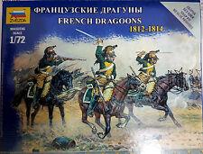 Franch Dragoons 1812-1814 3 Cavalieri Francesi - Zvezda Kits 1:72