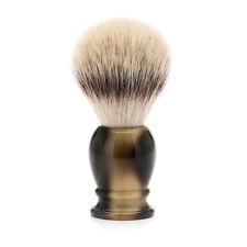 Muhle 33k252 synthétique bout argenté fibre Brosse de rasage avec Faux Corne