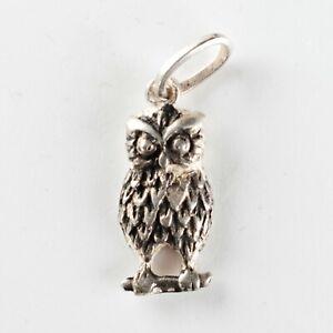 Vintage Charm Ciondolo in argento: Animali Uccelli GUFO - Animals Birds OWL