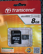 Transcend 8GB MicroSDHC Card w/SD Card Adapter