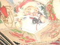 ANTIQUE PRESSED STITCHED CARDBOARD CHRISTMAS BOWLS SANTA CHILDREN RELIGIOUS7