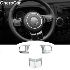 Chrome Steering Wheel Trim Cover Decoration For Jeep Wrangler Jkgrand Cherokee Fits 2012 Jeep Patriot