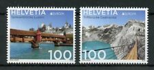 Switzerland 2018 MNH Bridges Europa Spreuer Bridge 2v Set Architecture Stamps
