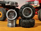 SCX24 1.0 Fuel Forged FFC30 style Wheels 7mm Hex 3d Printed Polished Finish