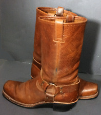 FRYE 77300 Golden Brown Leather Harness Motorcycle Boots Women Size 10