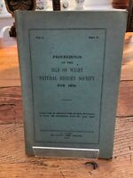 proceedings of the isle of wight natural history society for 1924