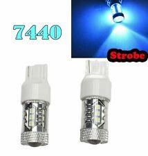 Strobe T20 7440 7441 992 W21W 12V 80W Ice Blue LED Front Signal Light M1 GM BAU