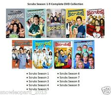 SCRUBS COMPLETE SERIES 1 2 3 4 5 6 7 8 9 DVD Collection All Season Episodes New