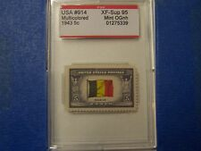 # 914 1943 Belgium PSE Graded  XF-Sup 95 Mint OGNH ***FREE US SHIPPING***