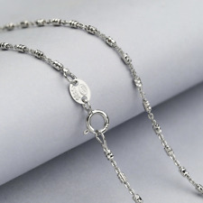 REAL Fashion Classic 925 Sterling Silver Clavicular Chain Necklace SOLID Jewelry