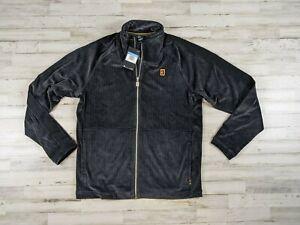 Nike Team Court Heritage Full Zip Black Tennis Jacket Mens Size Medium Loose fit