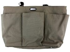 Baggallini Large Nylon Taupe Tote Bag w/Exterior Pockets and feet-Mint