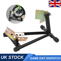 ECD Germany Front motorcycle paddock stand stay scooter wheel chock holder max 600 kg steel wheel holder motorbike rocker scooter wheel width 45-160 mm