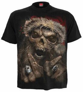Men's ROCK SANTA T-shirt Gothic Rock Party Birthday Xmas Gift Top Small to 5xl