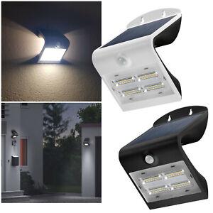 LED Solar-Wand-Leuchte mit Bewegungsmelder Außen-Lampe Wand-Strahler IP65 3 Modi