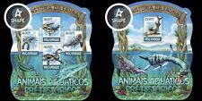 Z08 MOZ15225ab MOZAMBIQUE 2015 Prehistórico water animales Dinosaurios MNH JUEGO