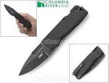 CRKT - Journeyer EDC Folding Knife Plain Edge Black Stonewash 6530 New