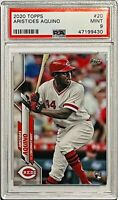 ARISTIDES AQUINO ROOKIE 2020 TOPPS MLB CARD #20 PSA GRADED 9 CINCINNATI REDS RC