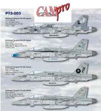 CAM PRO DECAL, 1/72 SCALE, P72-003, F/A-18C, VFA-86, VFA-146, VFA-151, VFA-192