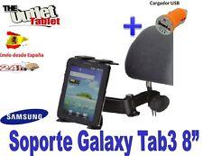 """SOPORTE REPOSACABEZAS SAMSUNG GALAXY TAB3 8"""" + CARGADOR USB Galaxy Note 8.0"""