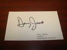 Doug Jarvis Montreal Canadiens Capitals Whalers Signed 3X5 Auto Index Card AN