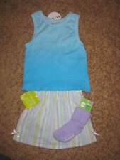 NWT Girls Blue Tank Top, Skorts, & Socks Set Size 2T 24 Months
