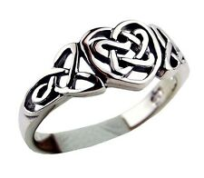 CELTIC LOVE HEART BEAUTIFUL 925 STERLING SILVER RING IN UK SIZE T GIFT BOXED