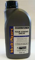 CHAMPION PETROL LAWNMOWER SAE30 ENGINE OIL 600ml BOTTLE MULTISPEC