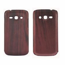 ULTRA THIN TPU WOODEN MAHOGANY EFFECT MATTE HARD CASE FOR SAMSUNG S7275 ACE 3