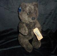 "13"" VINTAGE 1988 APPLAUSE BRAVO ROOSEVELT TEDDY BEAR STUFFED ANIMAL PLUSH TOY"