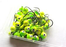 30 NEW 1/4 oz Round Jigheads Jigs Barb Two-tone Seasky Fishing Lures 8 Colors