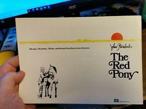 THE RED PONY 1973 Henry Fonda Maureen O'Hara John Steinbeck pressbook synopsis