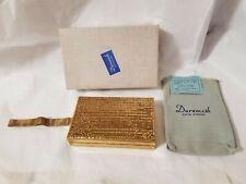 Vintage Duramesh Double Sided Vanity Cigarette Case Fifth Avenue Gold