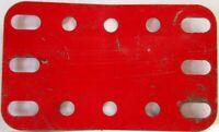 Meccano - 188 Flexible Plato 5 X 3 - Medio Rojo - Original - Usado - Pocos