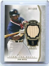2013 TOPPS TIER ONE #TOR-JR JIM RICE BAT CARD #297/399, BOSTON RED SOX, 100614