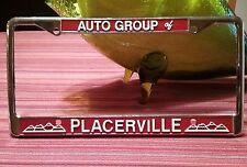 AUTO GROUP OF PLACERVILLE CA EL DORADO METAL LICENSE PLATE FRAME STANCILS??