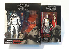 Star Wars Black Series TRU set of 2-Captain Phasma Quicksilver & Stormtrooper FX
