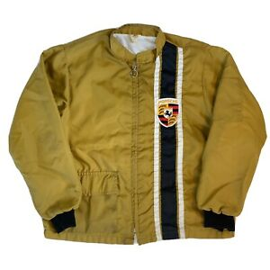 Vintage 70s The Great Lakes Porsche Jacket Size Large Distressed