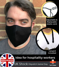 Reusable Face covering + Lanyard Fabric Straps Necklace ideal for Hospitality